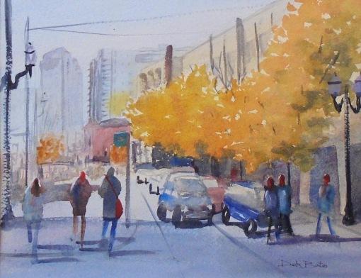 autumn day in portland